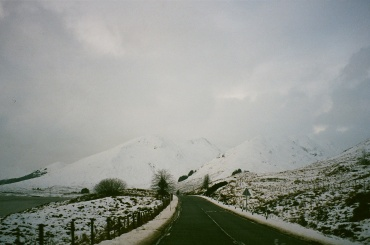 The drive to Skye. 35mm film.